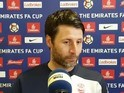 Lincoln City boss Danny Cowley at another press conference in February 2017