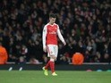 Laurent Koscielny receives his marching orders during the Champions League game between Arsenal and Bayern Munich on March 7, 2017