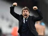 Chelsea manager Antonio Conte celebrates victory over West Ham United on March 6, 2017