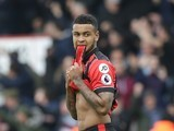Joshua King reacts to missing a penalty during the Premier League game between Bournemouth and West Ham United on March 11, 2017