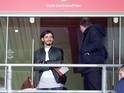 Manolo Gabbiadini watches on from the stands prior to the Premier League game between Southampton and Bournemouth on April 1, 2017