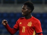 Inaki Williams in action for Spain Under-21s against Italy Under-21s on March 27, 2017