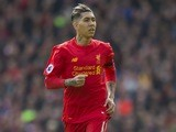 Roberto Firmino in action during the Premier League game between Liverpool and Everton on April 1, 2017