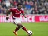 Adama Traore in action during the FA Cup quarter-final between Middlesbrough and Manchester City on March 11, 2017