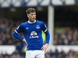 Ross Barkley in action during the Premier League game between Everton and Burnley on April 15, 2017