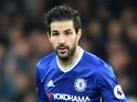 Chelsea's Cesc Fabregas during the Premier League match against Stoke City on December 31, 2016