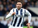 Hal Robson-Kanu in action during the Premier League game between West Bromwich Albion and Liverpool on April 16, 2017