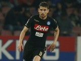 Jorginho in action during the Serie A game between Napoli and Udinese on April 15, 2017