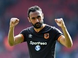 Hull City's Ahmed Elmohamady reacts to the draw against Southampton on April 29, 2017