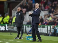 Steve Agnew and David Moyes on the touchline during the Premier League game between Middlesbrough and Sunderland on April 26, 2017
