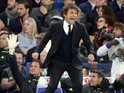 Antonio Conte celebrates as Nemanja Matic makes it three during the Premier League game between Chelsea and Middlesbrough on May 8, 2017