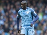 Yaya Toure in action during the Premier League game between Manchester City and Crystal Palace on May 6, 2017