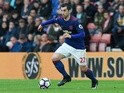 Manchester United's Henrikh Mkhitaryan in action against Southampton on May 17, 2017