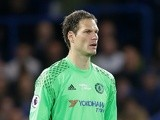 Chelsea's Asmir Begovic during the Premier League match against Watford on May 15, 2017