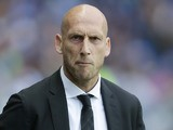 Jaap Stam watches on during the Championship playoff semi-final game between Reading and Fulham on May 16, 2017