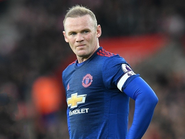 Manchester United's Wayne Rooney during the Premier League match against Southampton on May 17, 2017