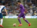 Alvaro Morata in action for Real Madrid against Espanyol in La Liga on September 18, 2016