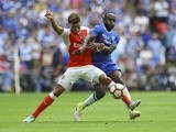Alex Oxlade-Chamberlain and Victor Moses during the FA Cup final between Arsenal and Chelsea on May 27, 2017