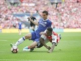 Cesar Azpilicueta and Danny Welbeck during the FA Cup final between Arsenal and Chelsea on May 27, 2017