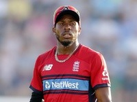 Chris Jordan of England during the T20 against South Africa on June 21, 2017