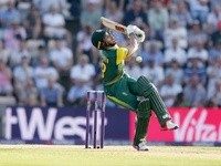 Farhaan Berhardien of South Africa during the T20 against England on June 21, 2017
