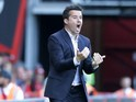 Marco Silva gives orders during the Premier League game between Bournemouth and Watford on August 19, 2017