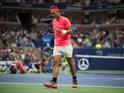 Rafael Nadal in action during the first round of the US Open on August 29, 2017