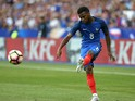 AS Monaco and France winger Thomas Lemar in action for his country during their international friendly with England on June 13, 2017