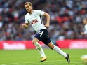 Harry Kane in action during the Premier League game between Tottenham Hotspur and Swansea City on September 16, 2017