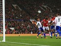 Romelu Lukaku bags the second during the Champions League game between Manchester United and Basel on September 12, 2017